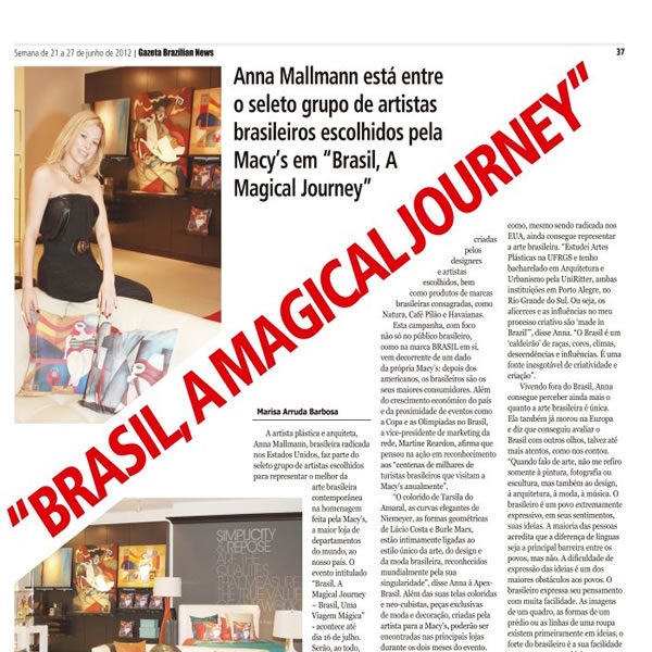 Anna Mallmann Art Design Gazeta News