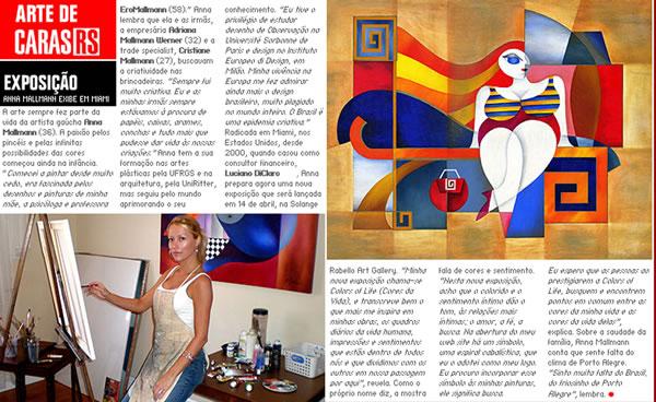 Anna Mallmann Artist Press Caras Brazilian Magazine