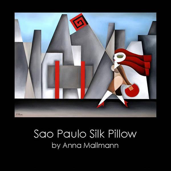 Anna Mallmann Design Sao Paulo Silk Pillow Macys