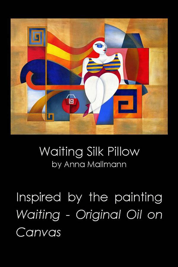 Anna Mallmann Design Waiting Silk Pillow EUA